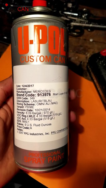 Matching Spray Can For Oem Paint Color Mercedes