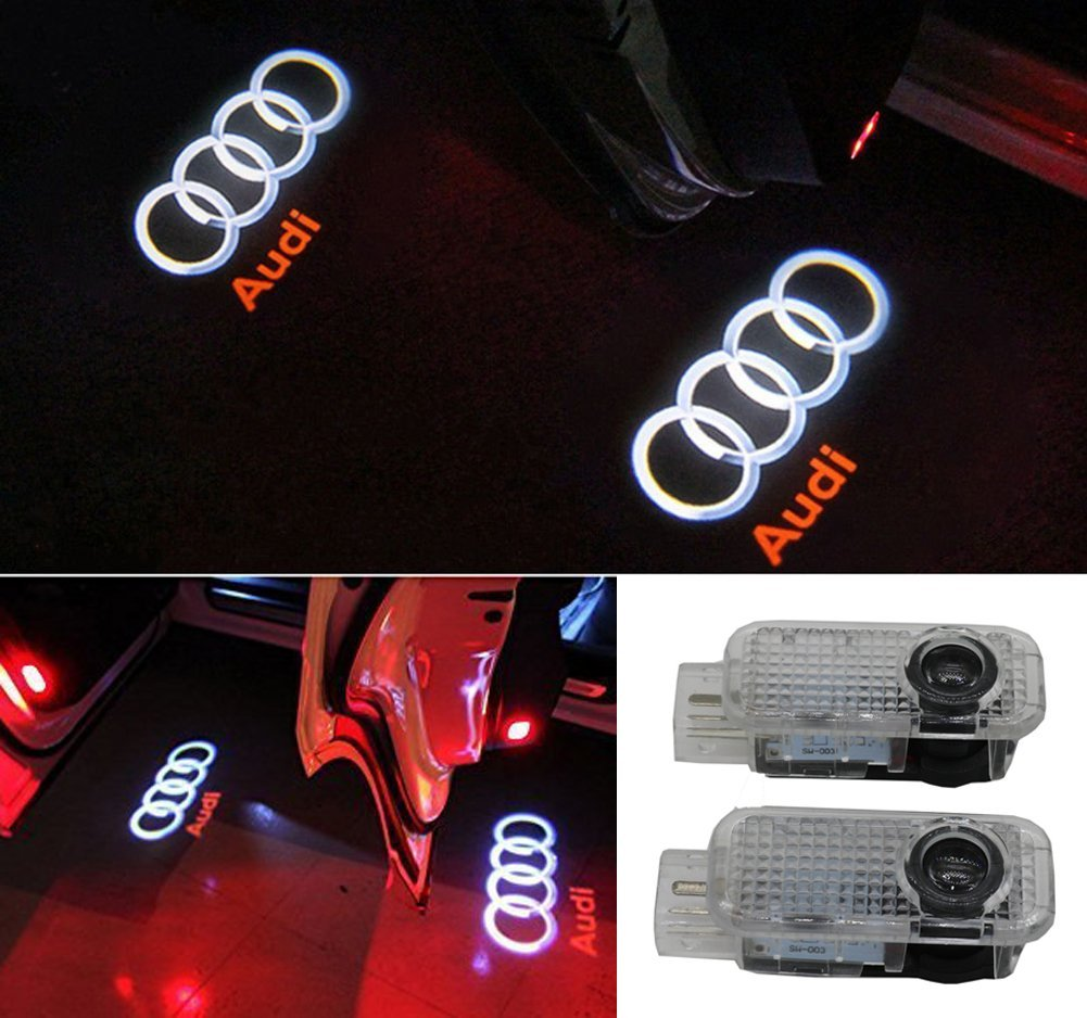 audi accessory door led projector