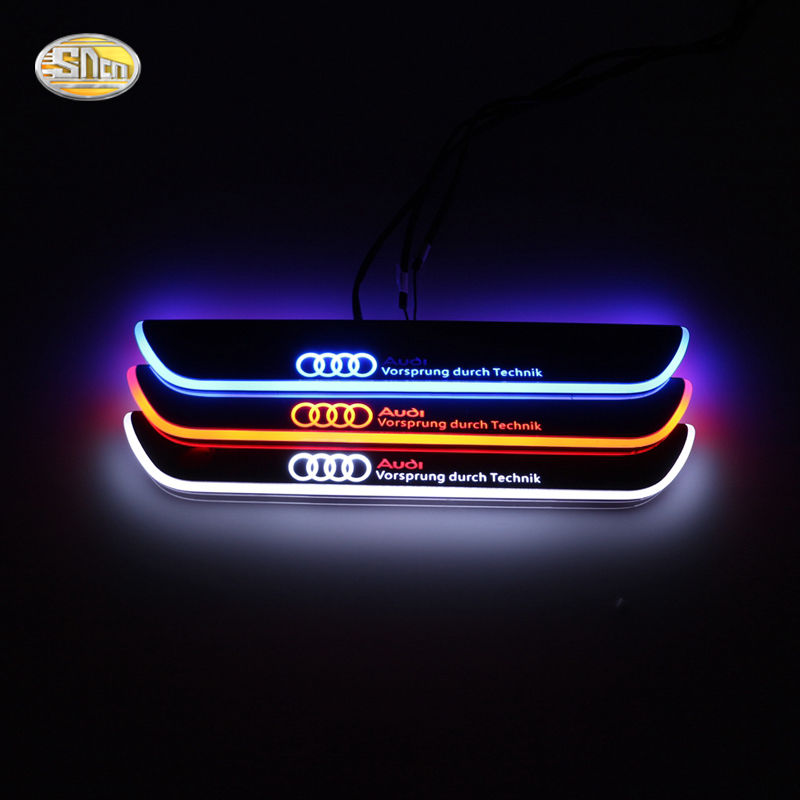 audi upgrades led door sill