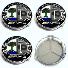 mercedes black amg center cap