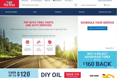 pep boys car parts